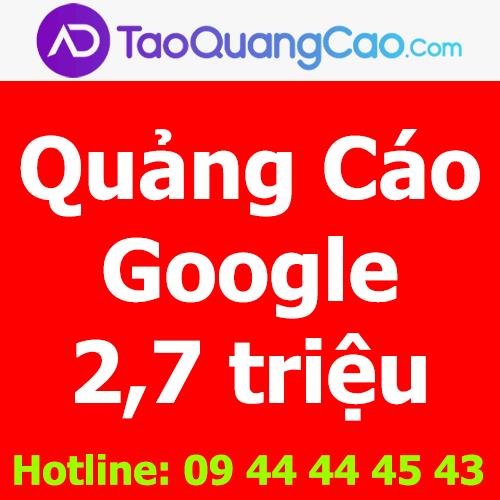 Quảng cáo Google 2,7 triệu